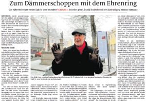 Otto Müller wird der Ehrenring der Stadt Gräfenberg verliehen